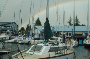 The new boat in Olympia at the end of the Rainbow.