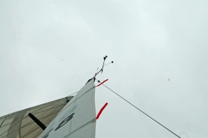 Wind Indicator shows how close to the wind the new boat sails.