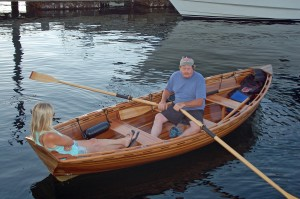 Jef and Julie Stang in their Cosine Wherry
