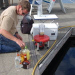 Mark Lindeman making Margaritas with his two cycle gas engine driven blender