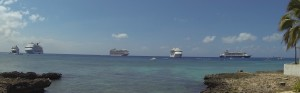 busy day in George Town Bay.