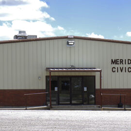 The Meridian Civic Center has enough space for a comfortable small crowd