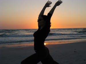 We do very simple, easy, gentle stretches, and modify them for people with limitations