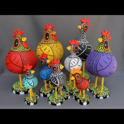 Those Kooky Chickens Folk Art | 2020