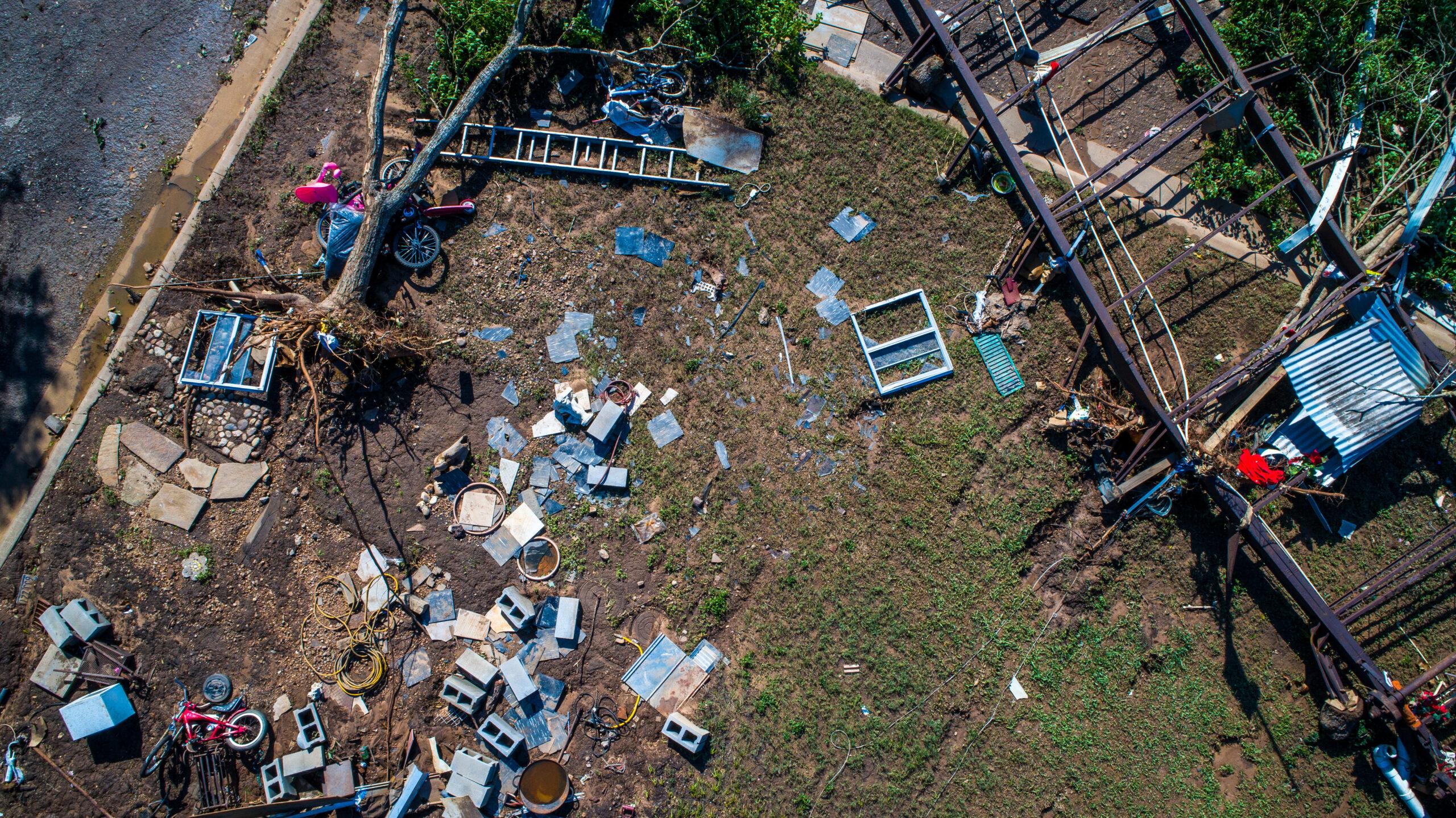 catastrophe flood damage debris