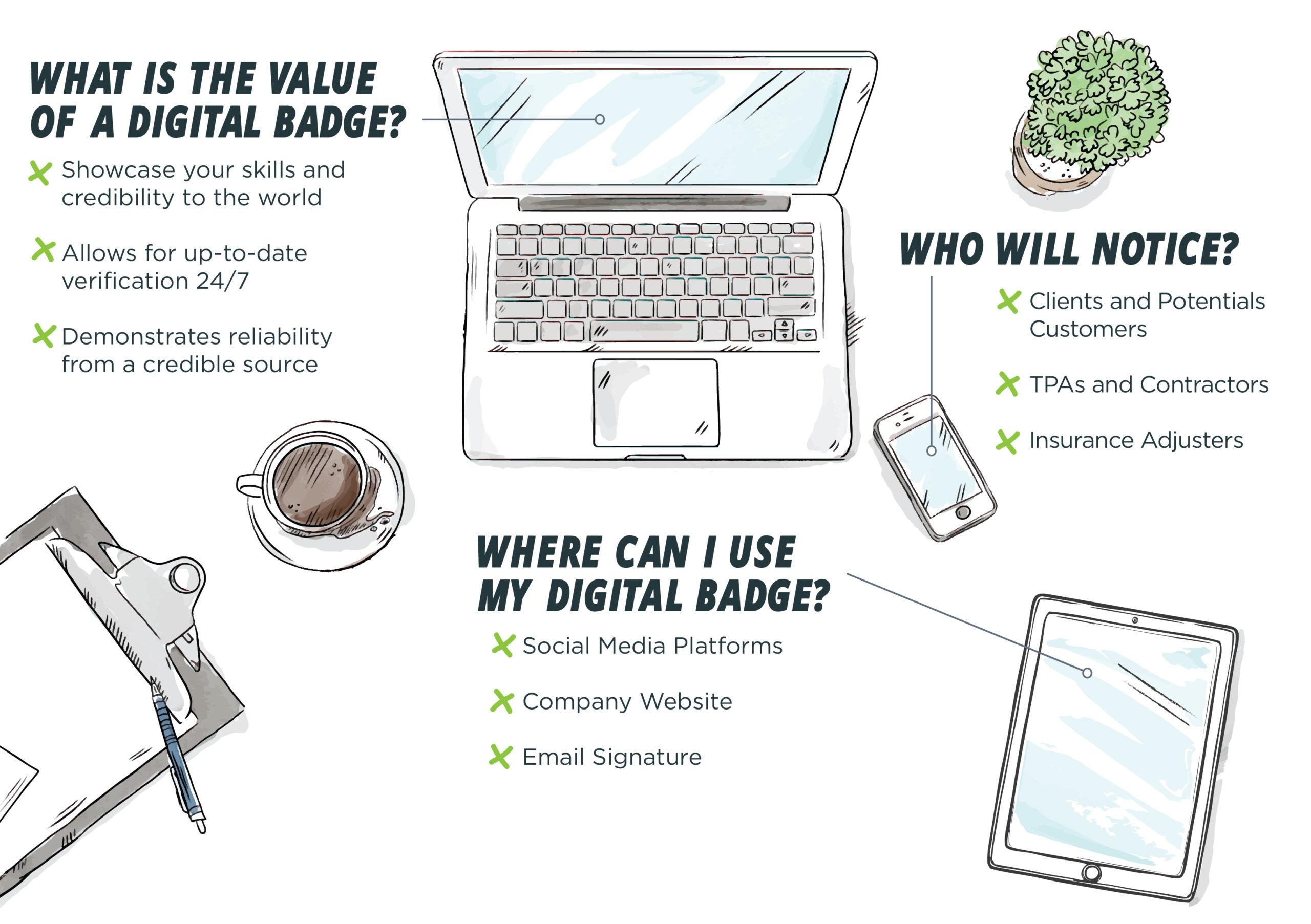 IICRC Certified Firm Digital Badge Benefits