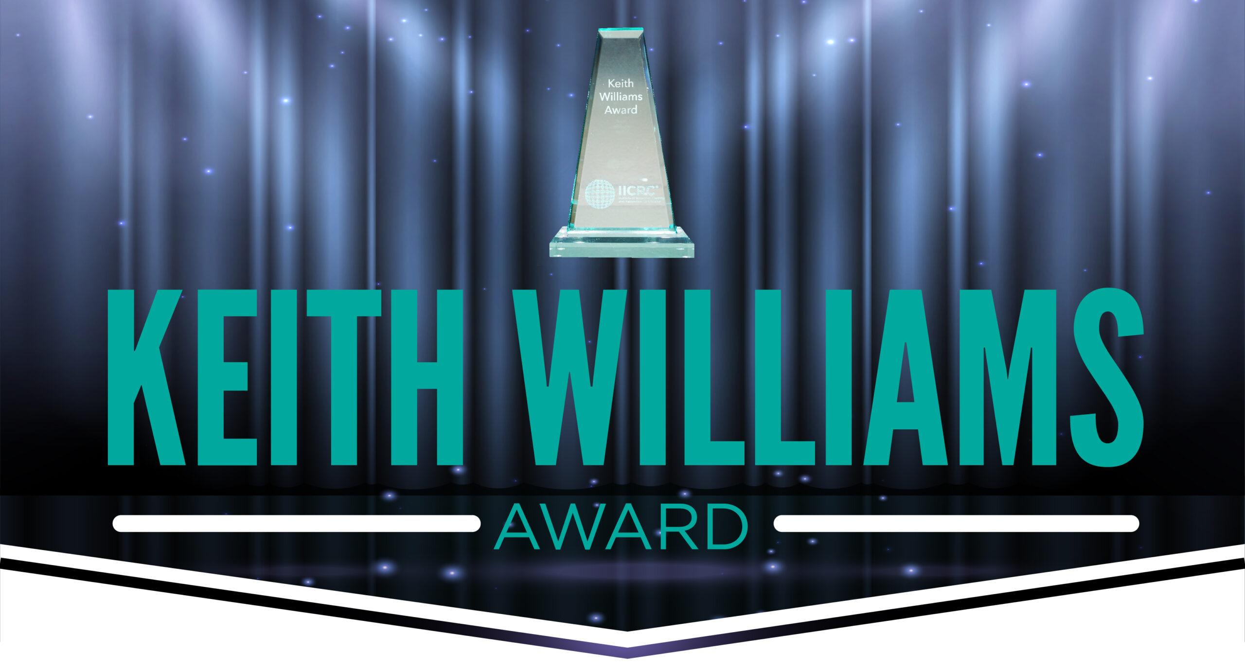 Keith Williams Award page header
