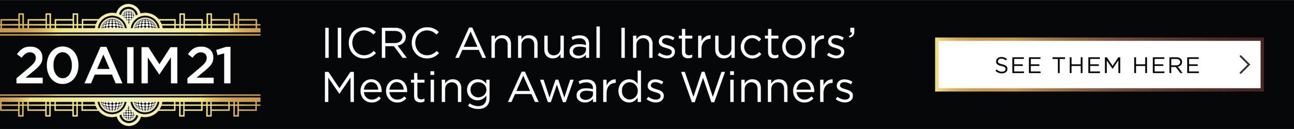 IICRC AIM winners homepage banner