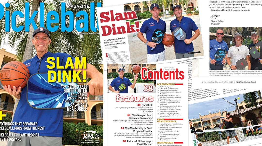 Pickleball Magazine Cover Feature with the NBA's Scott Foster