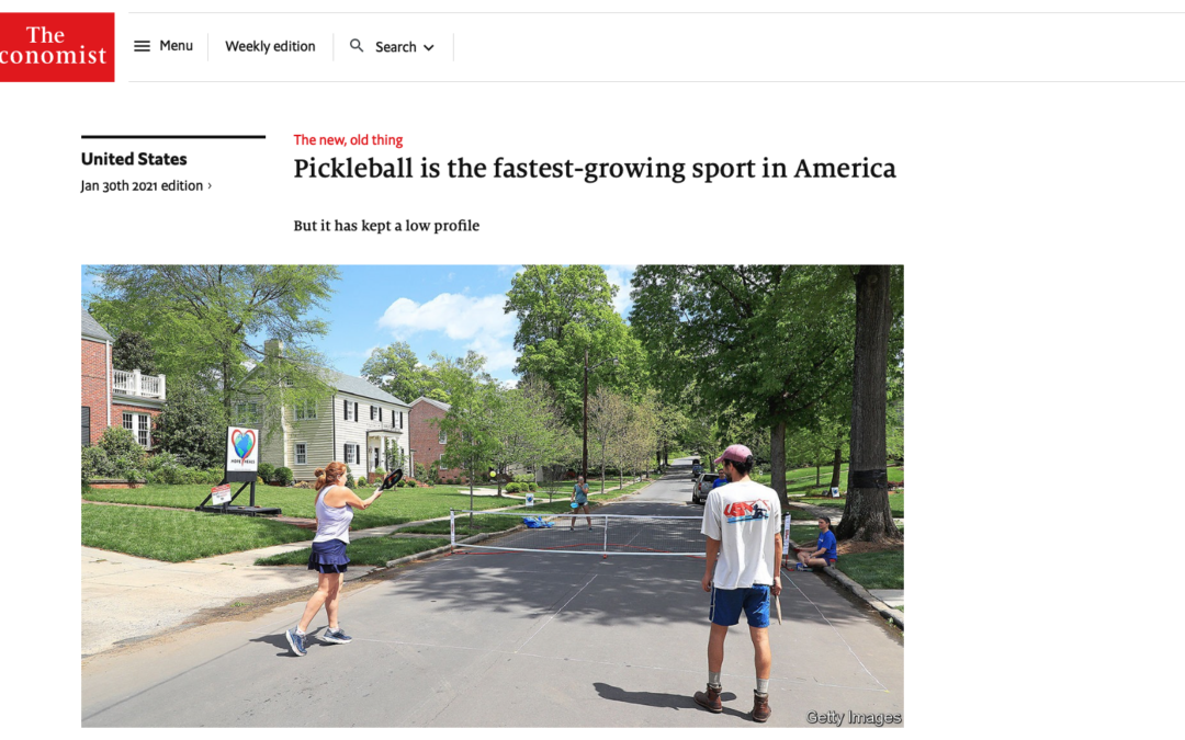 The Economist: Pickleball is the Fastest-Growing Sport in America