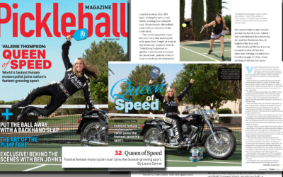 Pickleball Magazine: Fastest Female Motorcycle Racer Joins the Fastest-Growing Sport