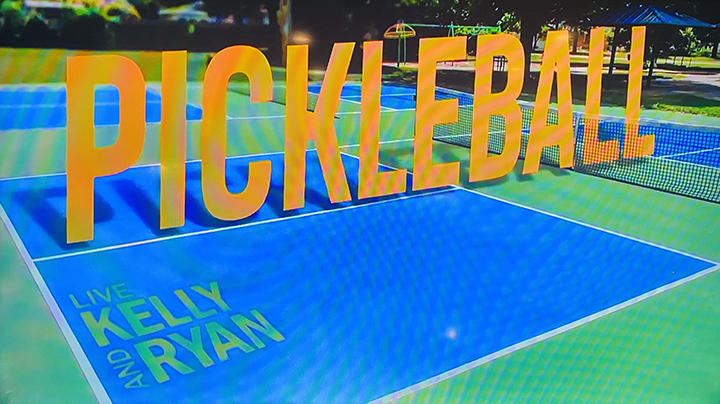 Ben and Collin Johns Play Pickleball on Live with Kelly and Ryan