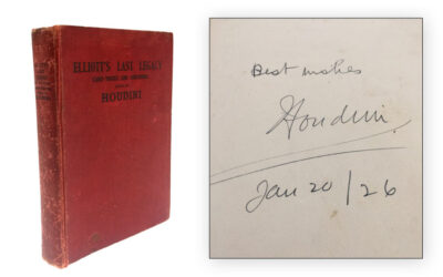 1923 Signed by Harry Houdini, Elliott's Last Legacy Card Tricks (Sold for $880)