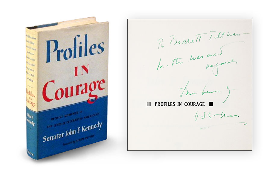 """Signed """"Profiles in Courage"""" by John F. Kennedy"""