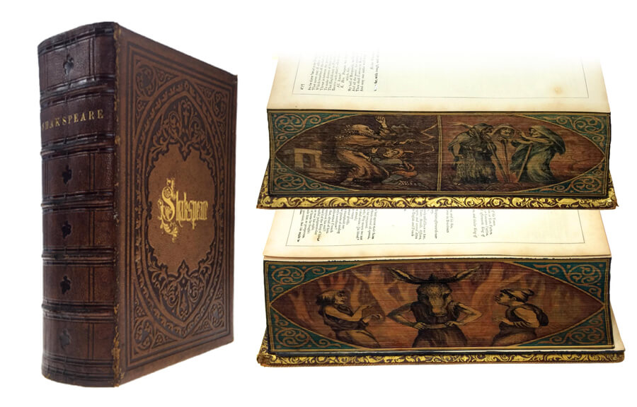 Works of Shakespeare: Fore-Edge Painting