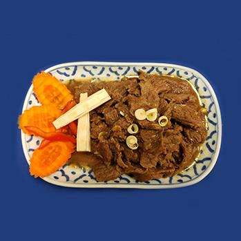 Beef with lemongrass