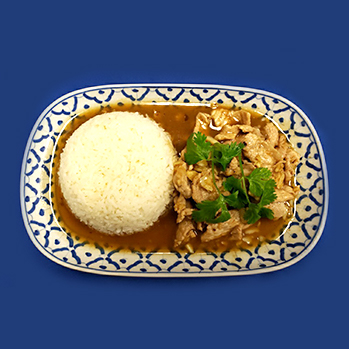 Chicken or pork with garlic and pepper sauce