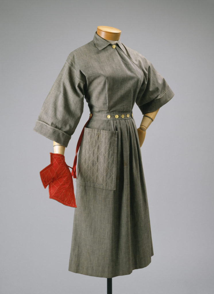 """Working Title/Artist: """"Popover"""" dress Department: Costume Institute Culture/Period/Location: HB/TOA Date Code: Working Date: 1942 photography by mma 1998, transparency #1a scanned by ES retouched by film and media (jn) 5_13_06"""
