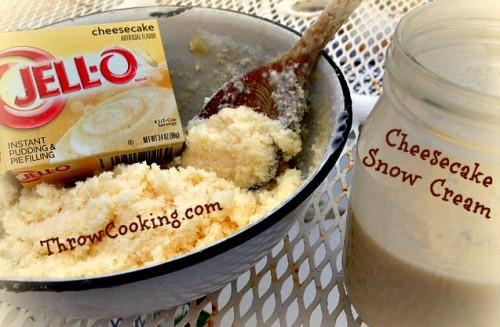 cheesecake snow cream pm