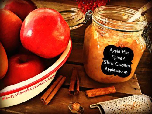 Apple Pie Spiced Slow Cooker Applesauce