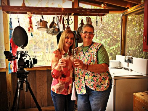 Filming Muscadine Grape Episode for Flavor, NC with Lisa