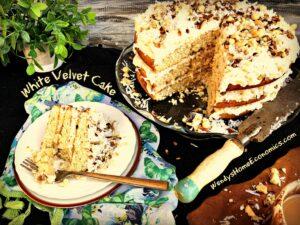 Winter White Velvet Cake
