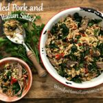 Pulled Pork & Orzo Italian Salad