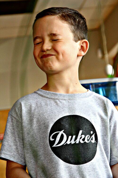 Hair Spray! Wyatt Reid and his Duke's Mayo TV commercial debut