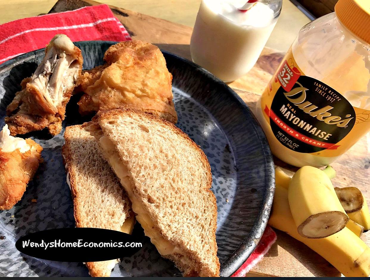 banana sandwich fried chicken