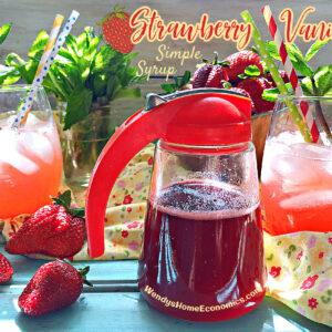 Strawberry Vanilla Simple Syrup