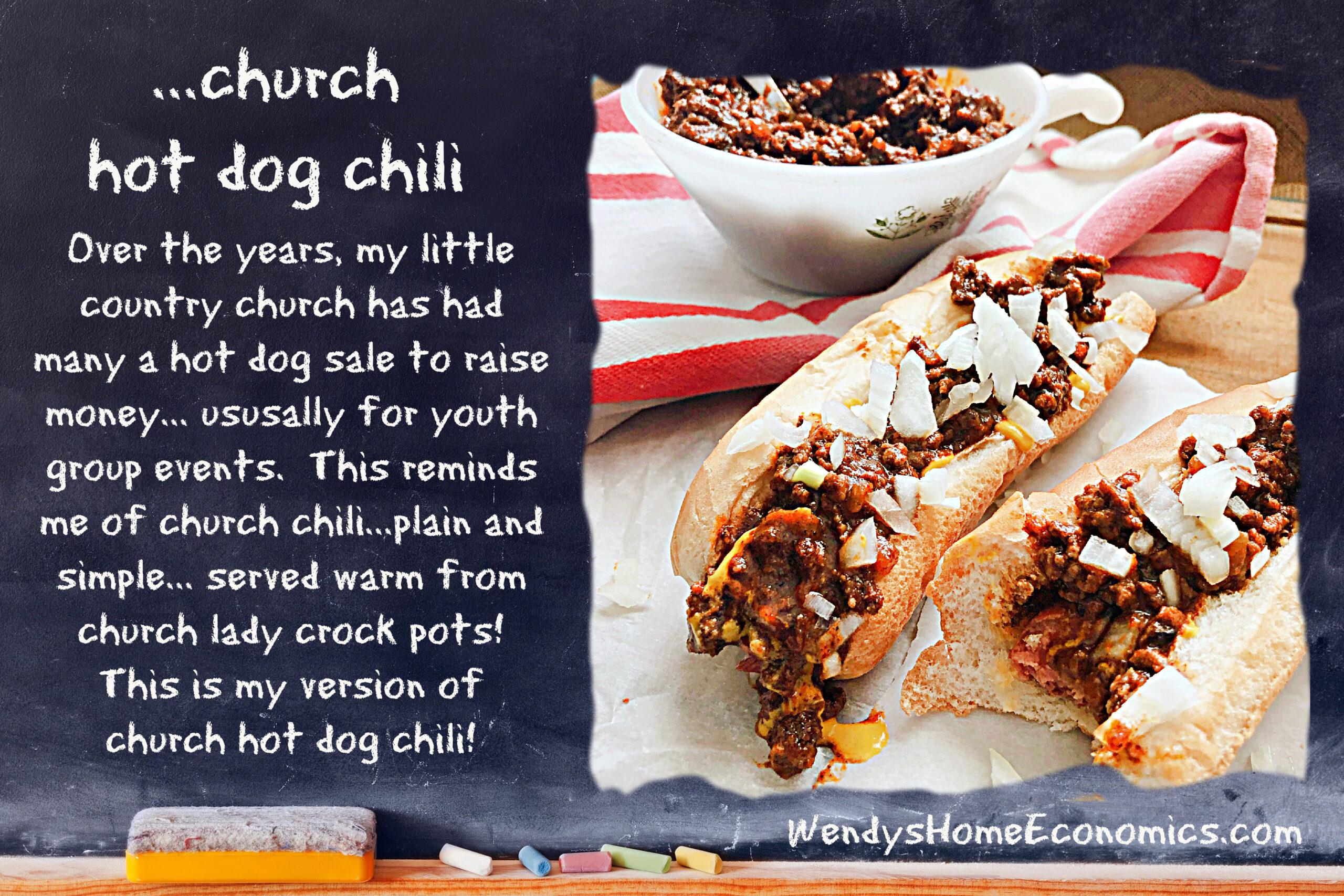 Church Hot Dog Chili