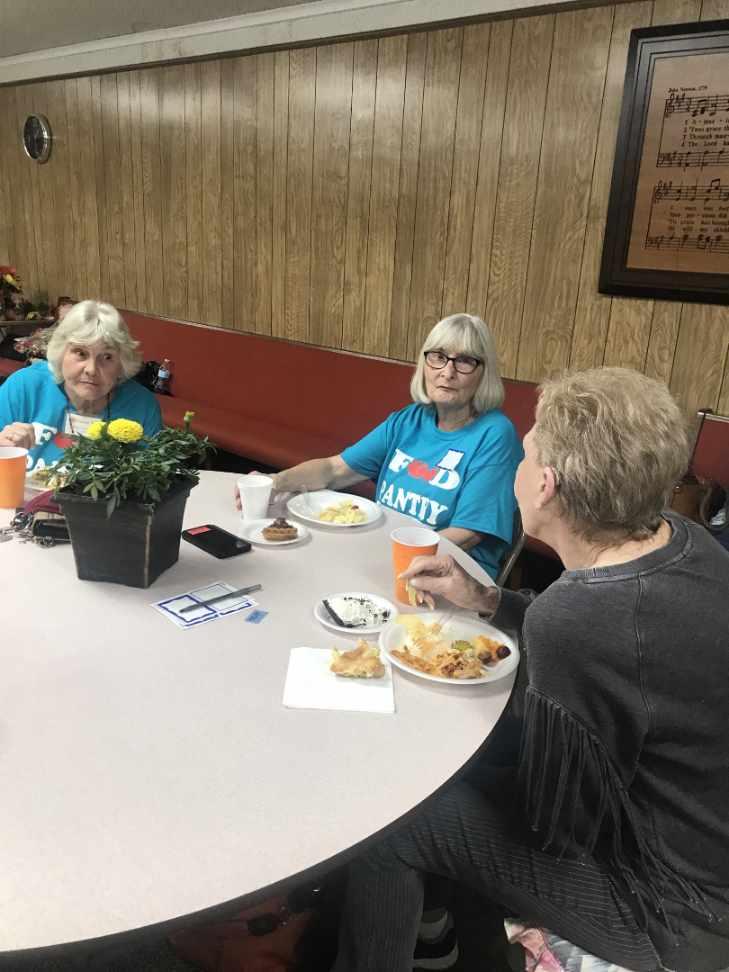 Three Old Women Eating