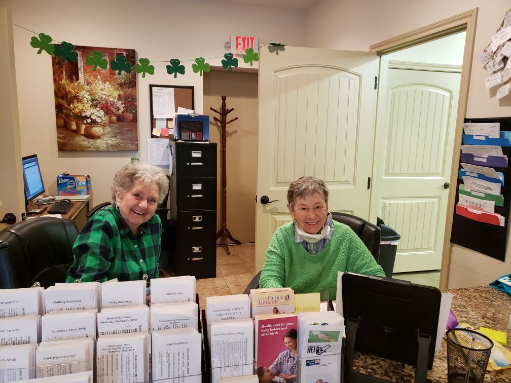 Two Female Seniors in an Office