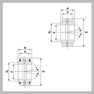 Spherical Plain Radial Bearings with Wide Inner Ring with Fitting Crack and Wide Inner Ring with Fitting Crack Two Seals