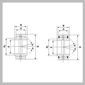 Spherical Plain Radial Bearings (Metric Size) With Fitting Crack, Two Seals And Fitting Crack