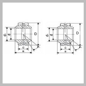 Spherical Plain Radial Bearings (Inch Sizes) With Fitting Crack, Two Seals And Fitting Crack