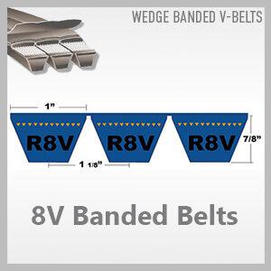 8V Banded Belts