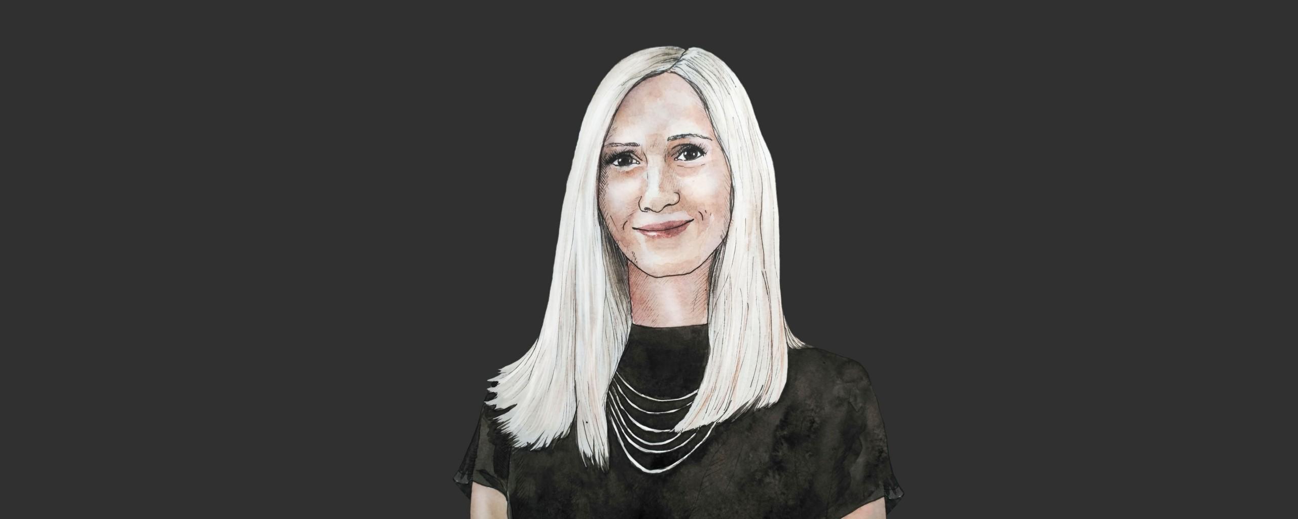 Illustrated portrait of Carina Linmeier