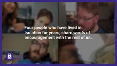 Still from award winning Locked Out of Life video.