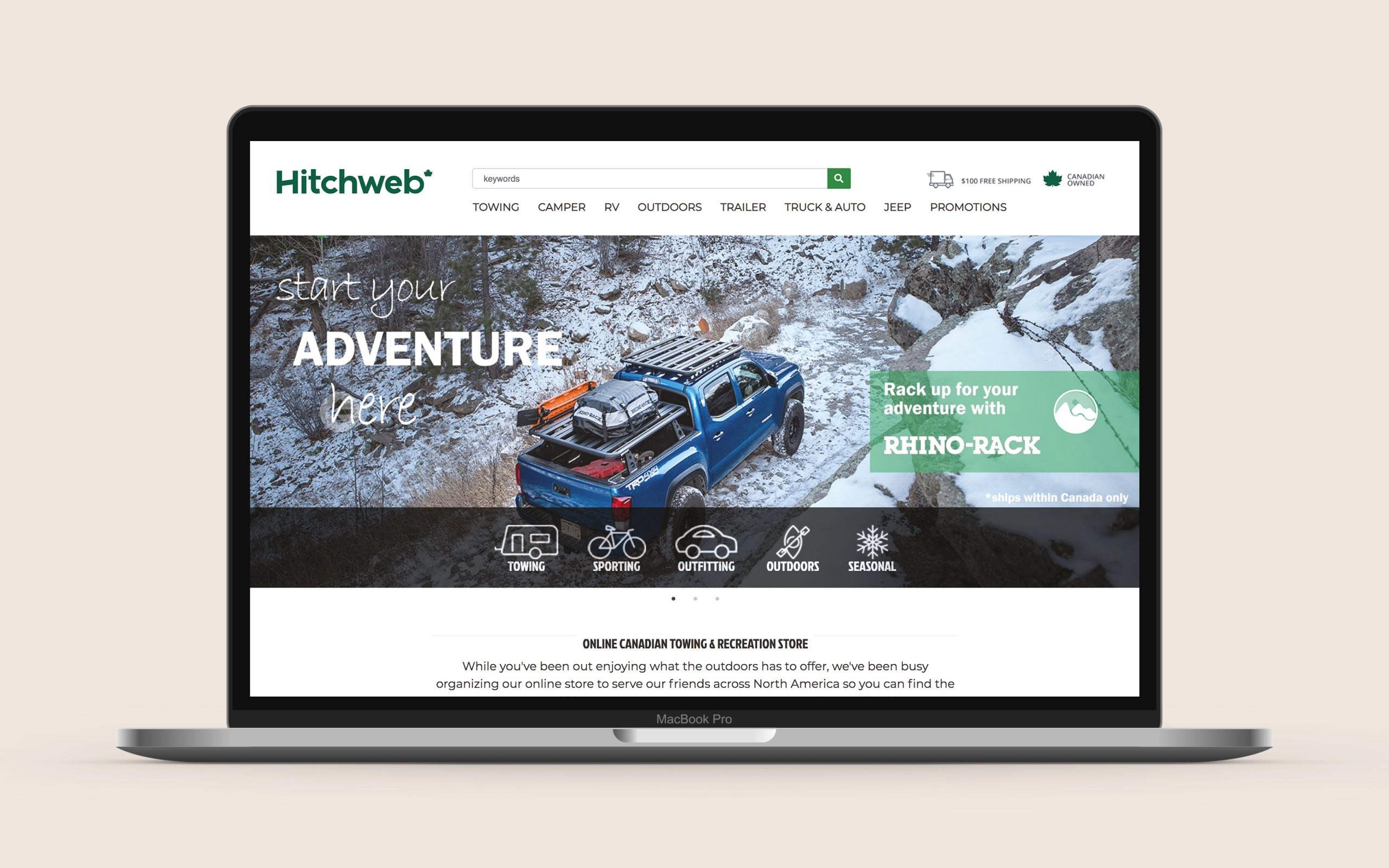 Mockup of a Hitchweb website.