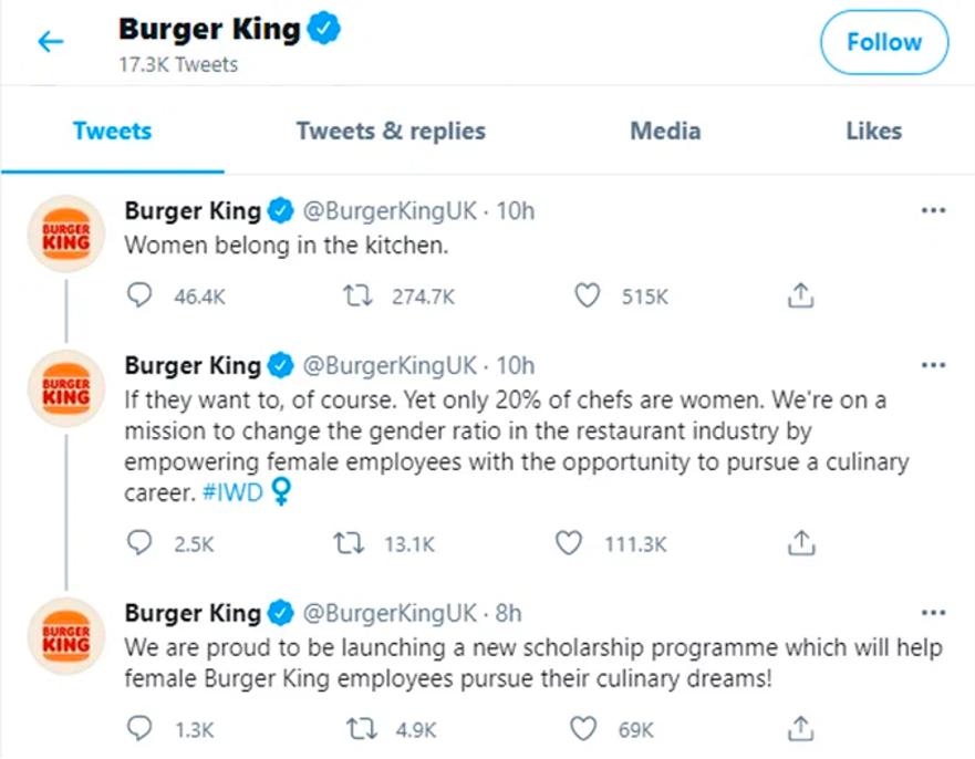 Photo of the full Burger King thread.