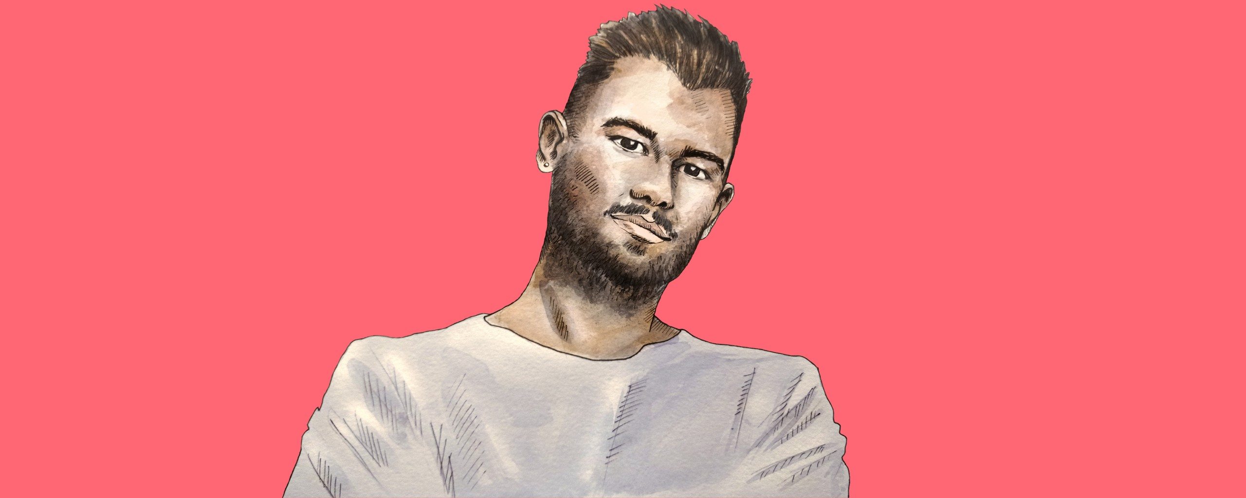 Illustrated portrait of our creative crush.