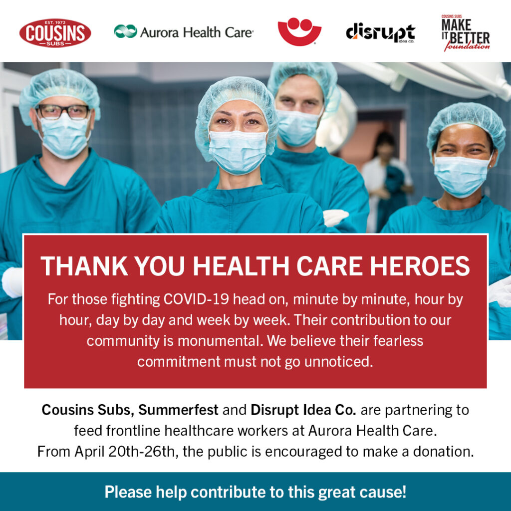Cousins Cares initiative to feed healthcare workers during COVID-19