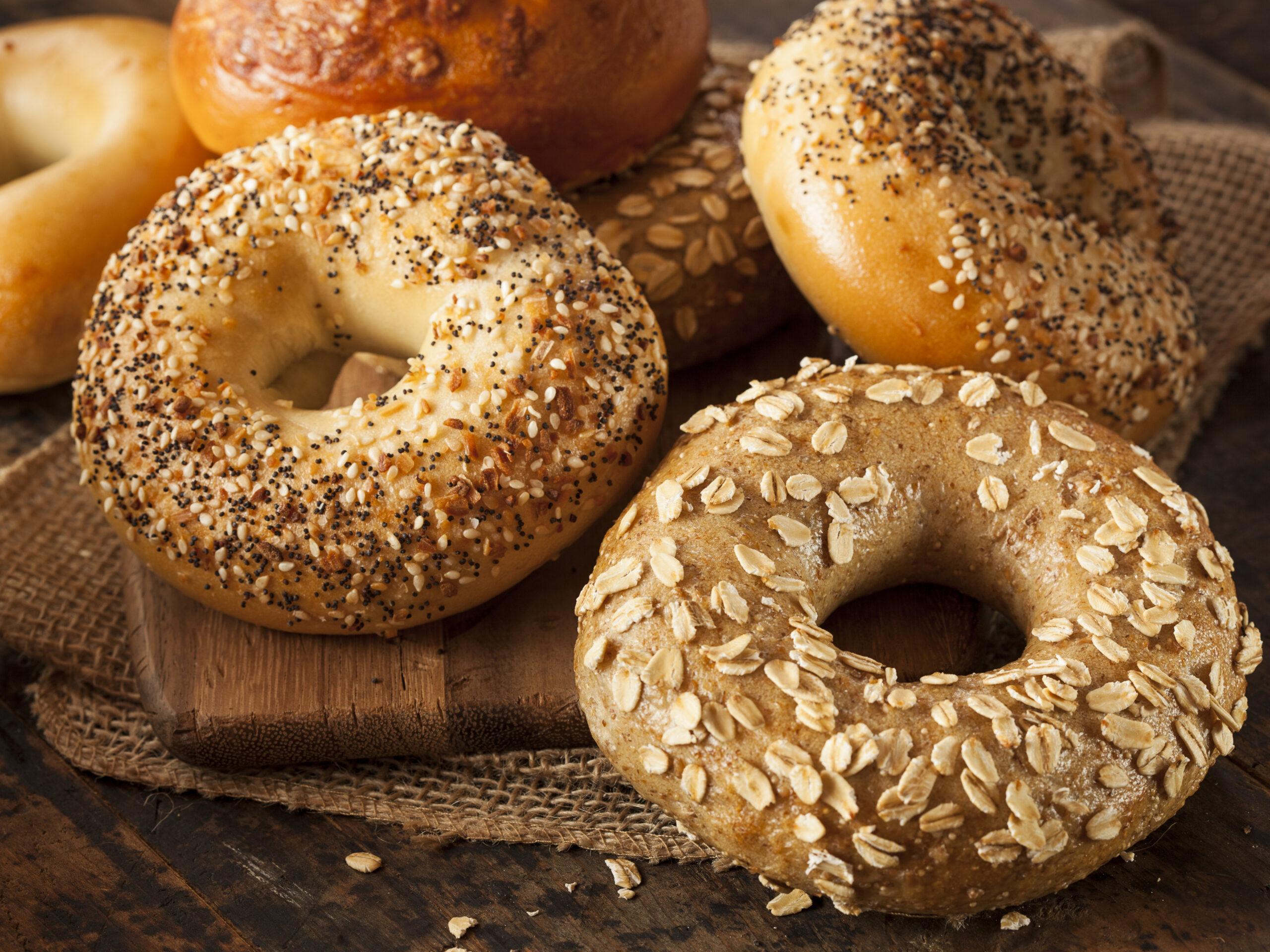 Healthy Organic Whole Grain Bagel for Breakfast