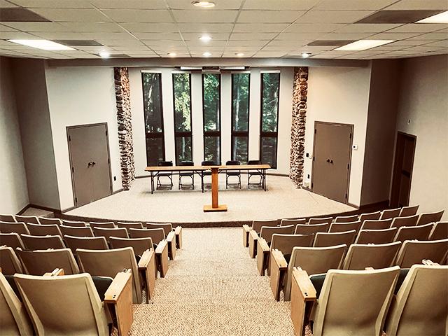 theater interior facing the podium