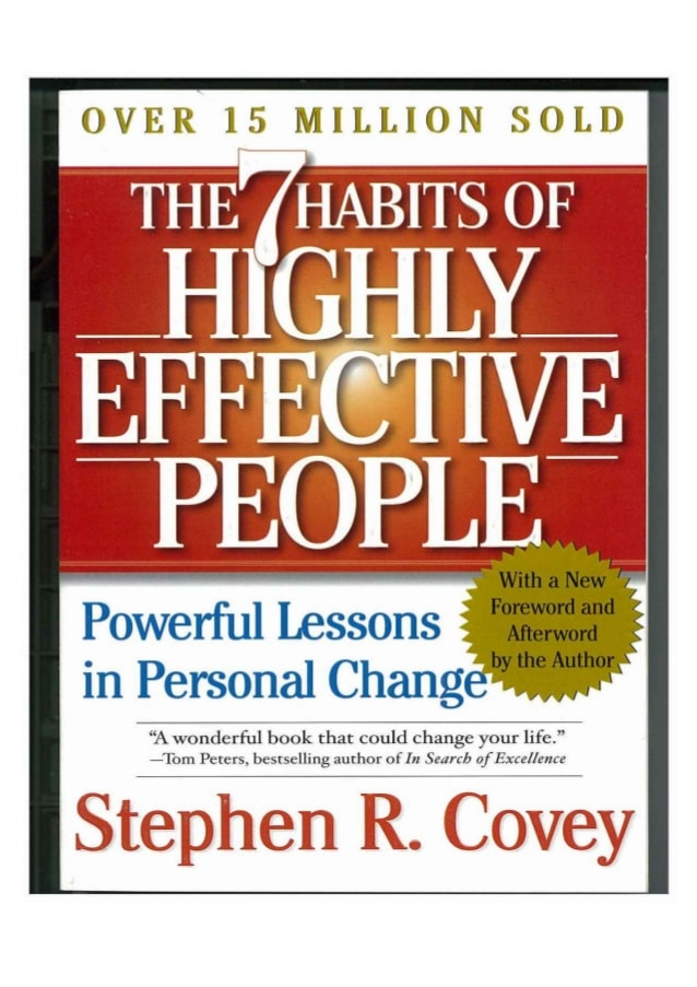 Personal Development books - Stephen R. Covey