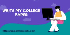 Write my College Paper