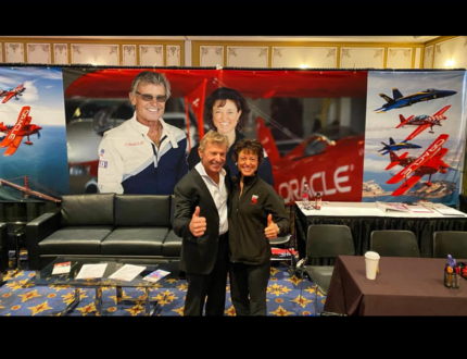 Sean D. Tucker and Team Oracle ICAS Booth Display