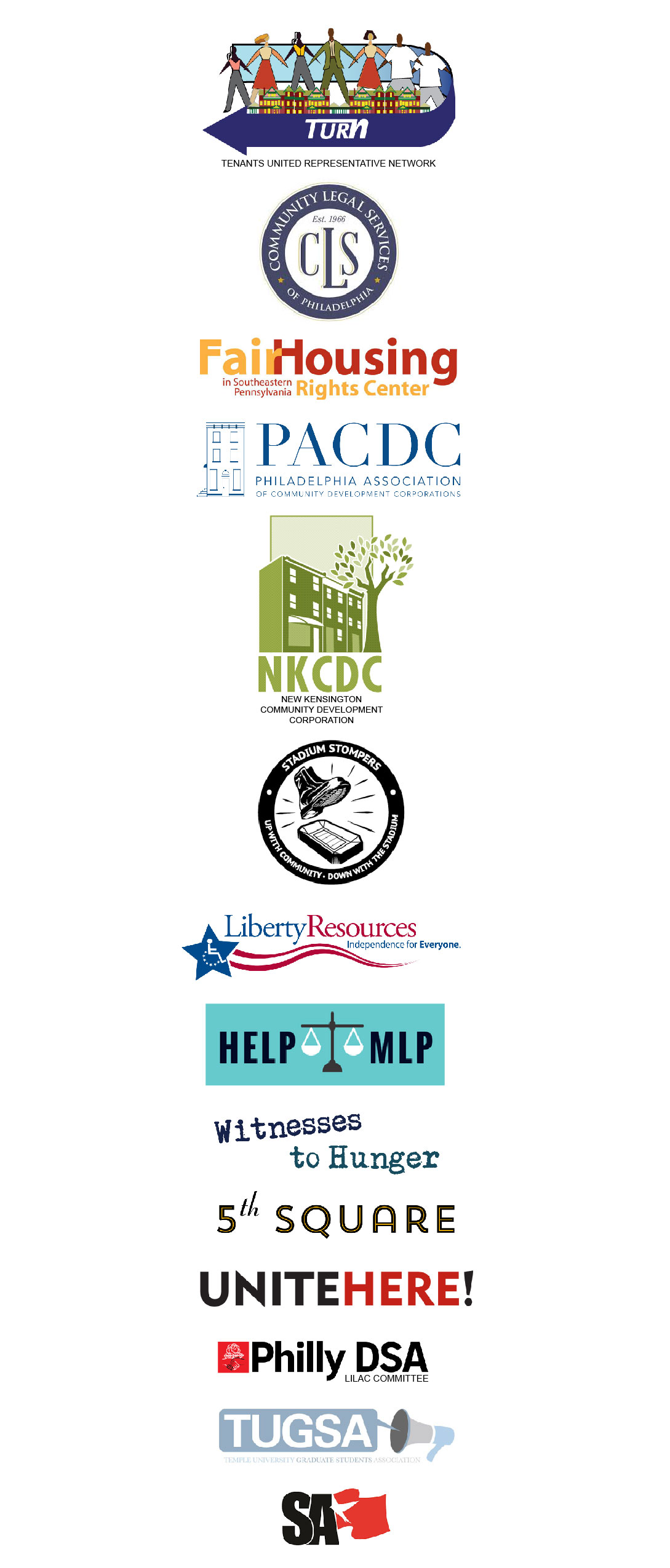Endorsers of Philly's Good Cause Law