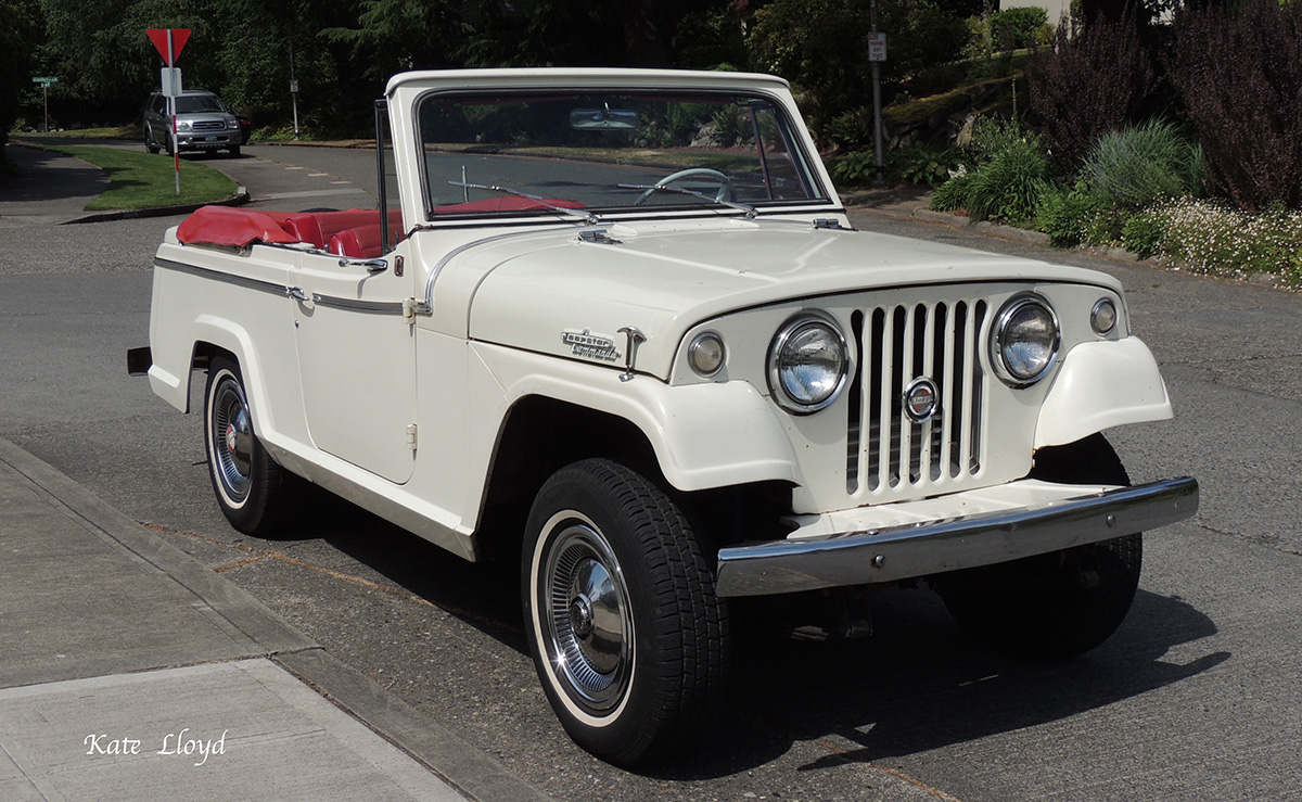 This Vintage Jeepster Commando is someone's baby.